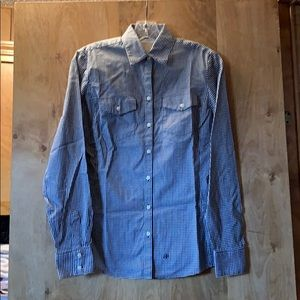 Banana Republic checked button down shirt XS